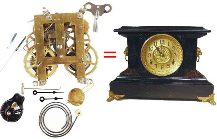 Antique Mantle Clock Replacement Movement