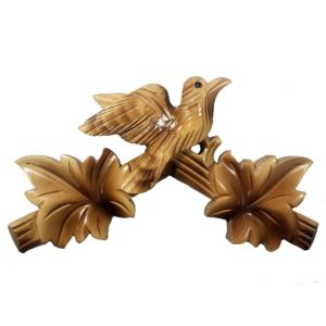Blonde Wooden Bird Top for Cuckoo Clocks