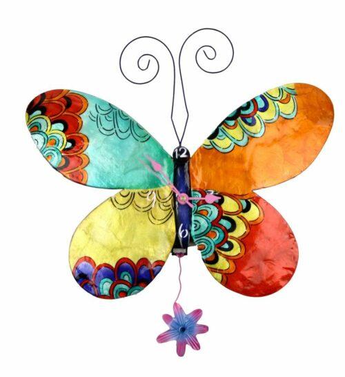 Butterfly Clock with Quartz Pendulum Movement