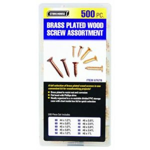 Clock 500pc Wood Screw Assortment
