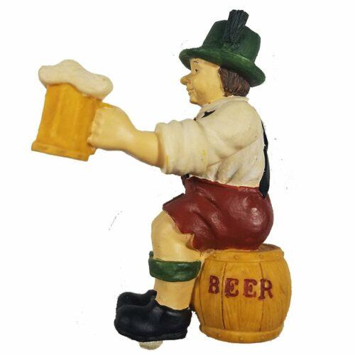 Cuckoo Clock Figurine Beer-Drinker