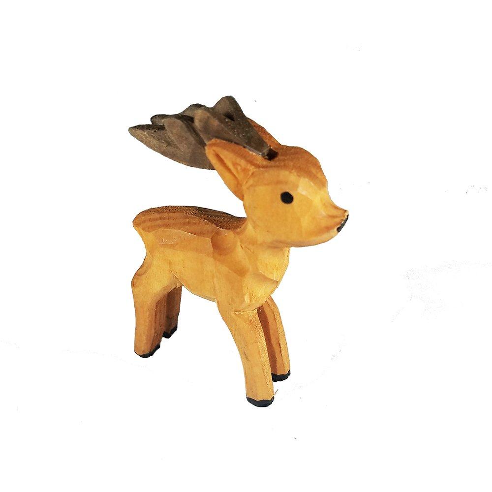 Cuckoo Clock Wooden Buck Deer Figurine