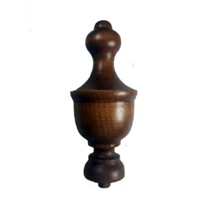 Dark Wooden Finial for Clock Case