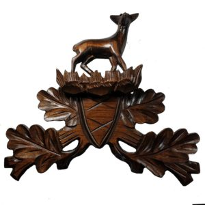 Elk Top Wooden Piece for Hunter Style Cuckoo Clock