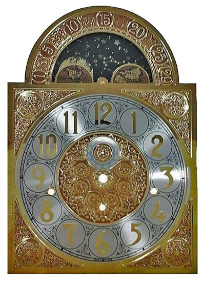 Grandfather Clock Moon Dial 11 x 15.5