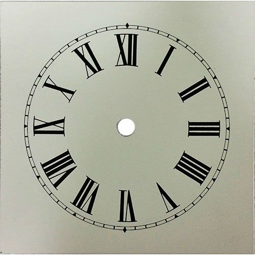 Heavy Ivory Cottage Style Clock Dial