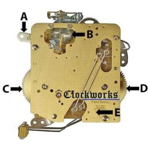 Hermle 140 Clock Movement Parts Back Diagram