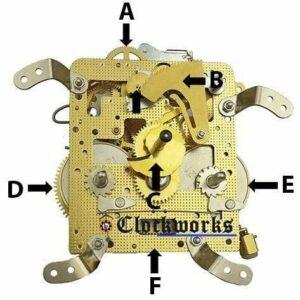 Hermle 140 Clock Movement Parts Front Diagram