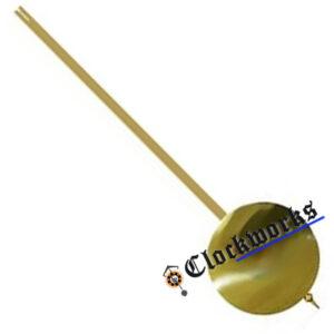 Brass rod clock pendulum