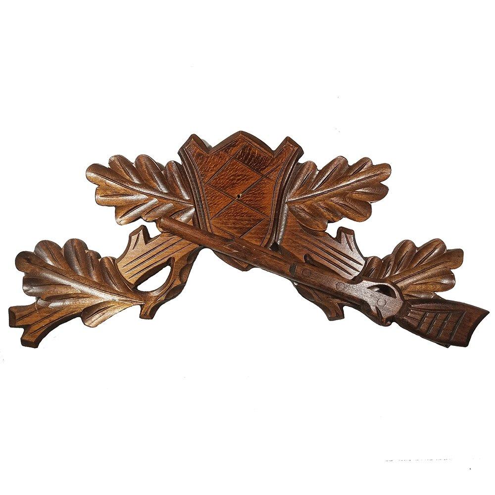 Hunter Style Shot Gun Cuckoo Clock Wood Top