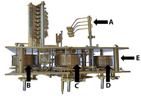 Kieninger KSU Clock Movement Parts - Bottom Diagram