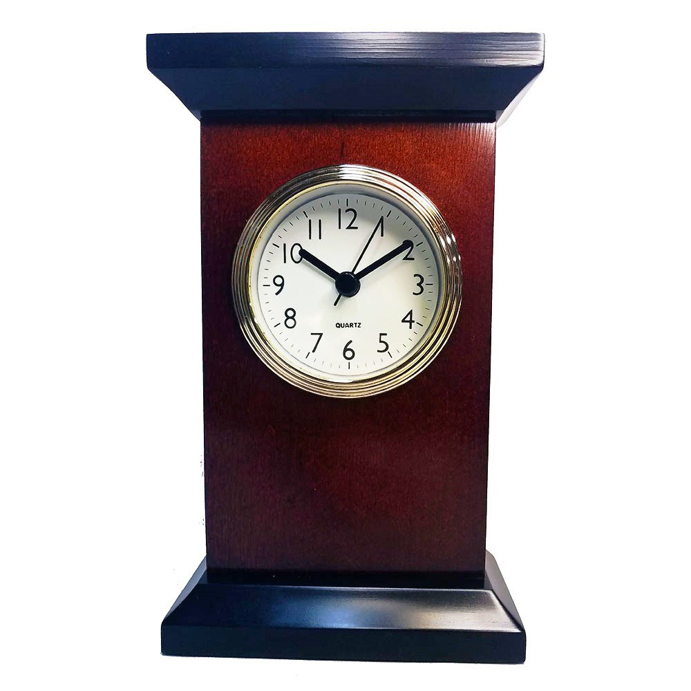 Mahogany Desk Clock