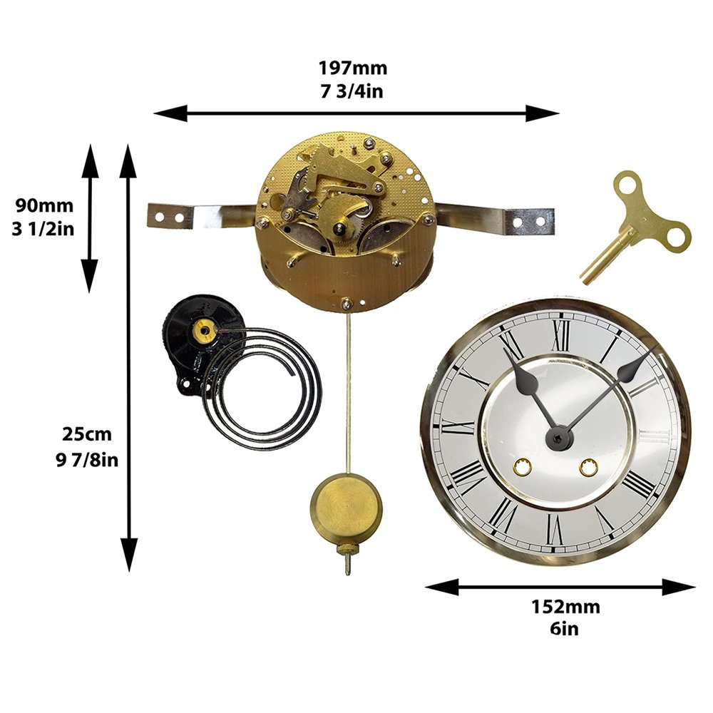 WALL CLOCK PART BUSHING WIRE BRASS NEW MANTEL