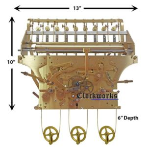 NEW 9 Tubular Bell Kieninger Clock Movement