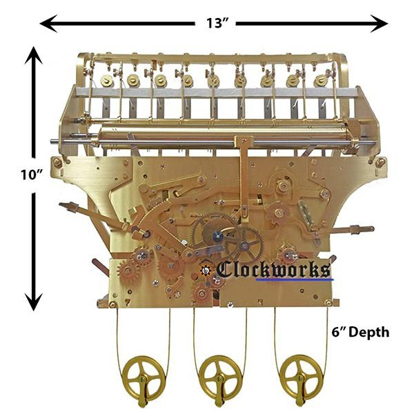 NEW 9 Tubular Bell Kieninger Clock Movement
