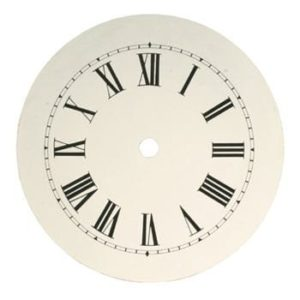 Round Banjo Style Clock Dial