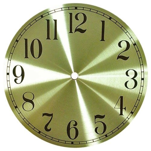 Round Gold Metal Clock Dial