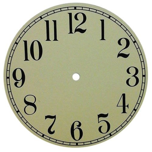 Round Ivory Clock Dial