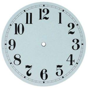 Round White Metal Clock Dial