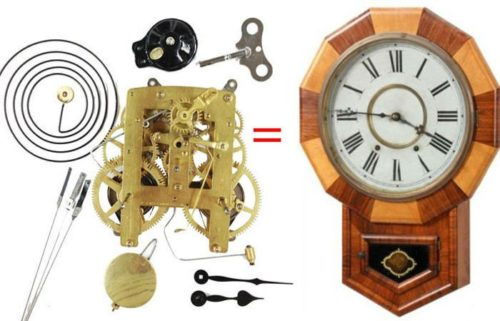 American Time-Strike Clock Movement Replacement