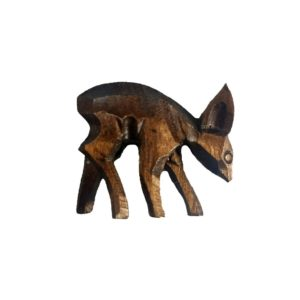 Small Wooden Deer for Cuckoo Clock
