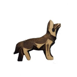 Small Wooden Wolf for Hunter Style Cuckoo Clock