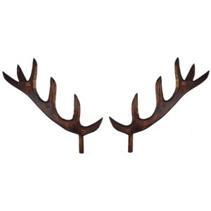 Solid Wood Antlers Set for a Hunter Style Cuckoo Clock
