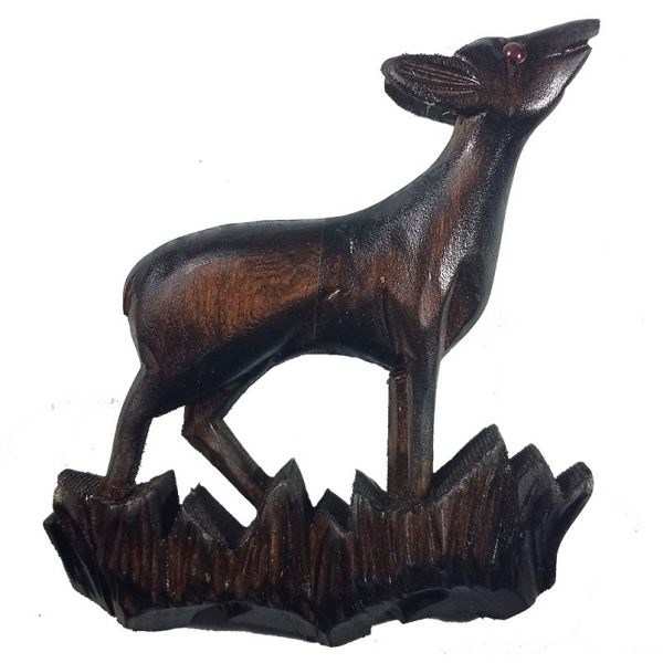 Solid Wood Deer Front Case Decoration for a Cuckoo Clock