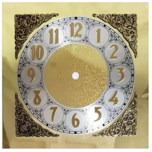 Square Bracket Clock Dial