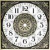 Square Design Metal Clock Dial