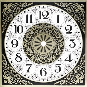 Square Design Metal Clock Dial