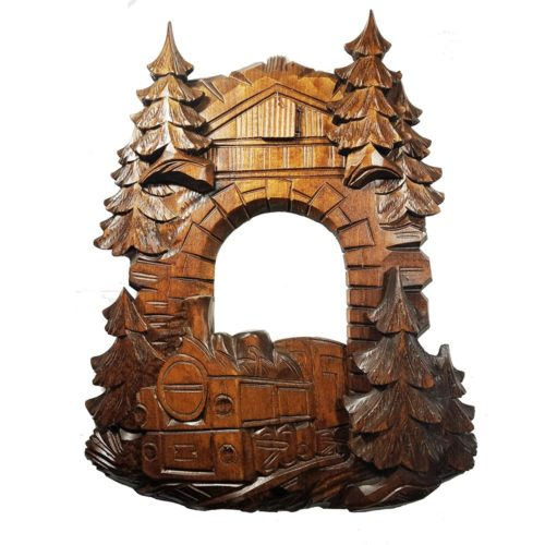 Cuckoo-Clock Front-Dressing Railroad-Theme