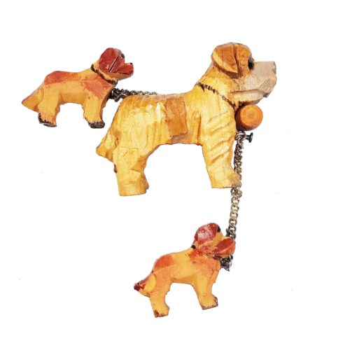 Wooden Sleigh Dog Cuckoo Clock Figurine