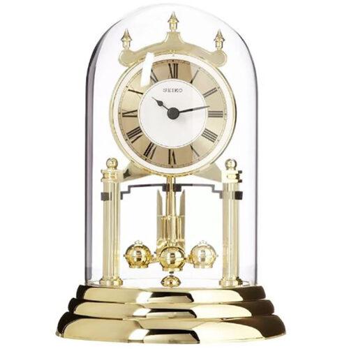 Anniversary Clock Glass Dome