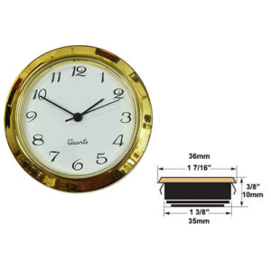 Clock Insert For 1-3/8-Hole