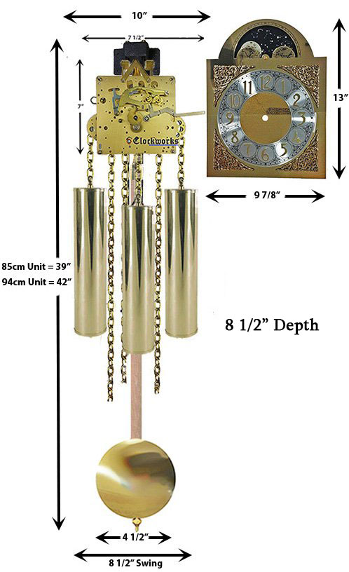 Mechanical GrandMother Clock Kit