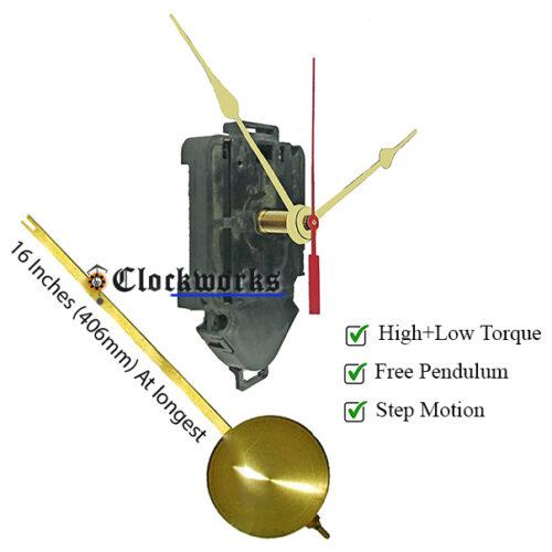 Time and pendulum quartz clock movement by clockworks.com