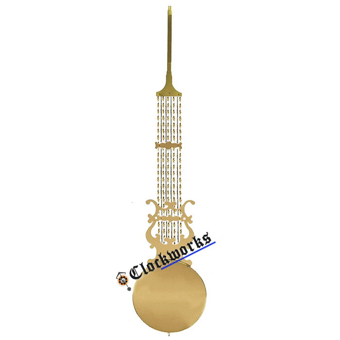 Clockworks Keininger clock movement lyre pendulum