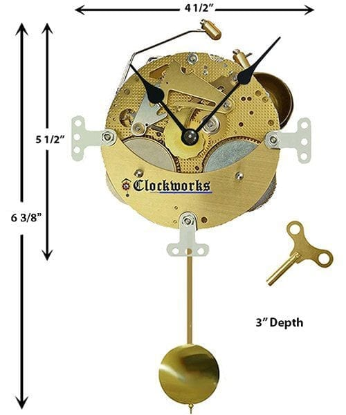 Mechanical Pendulum Shelf Clock-Kit