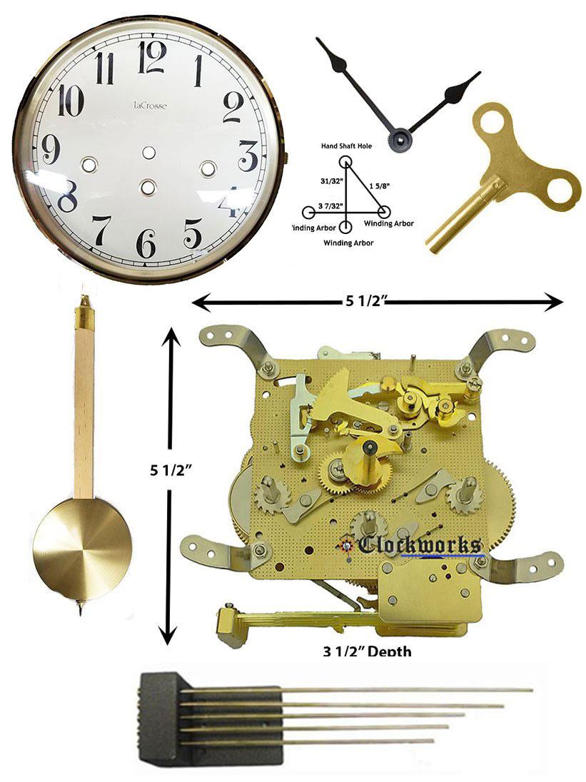 Mechanical Wall Clock Kit Wmkit24 Clockworks Clockworks