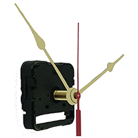 Time only quartz battery clock movement