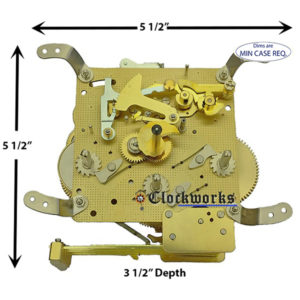 341-020 Hermle Clock Movement