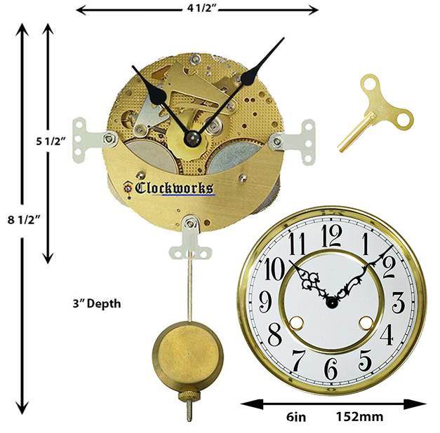 Wall Or Mantle Clock Kit Wmkit3 Clockworks Clockworks