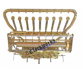 Kieninger HTU 9 Tubular Bell clock movement