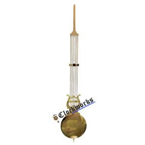Lyre floor clock pendulum