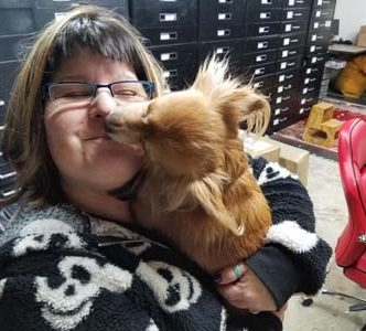 Admin Donna Stoudenmire getting a kiss