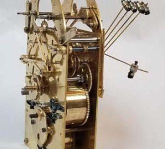 Restored  Westminster German clock movement 5