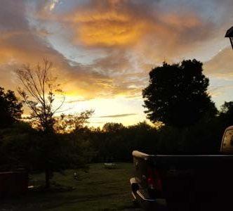 Sunrise at Clockworks Huntington Ma