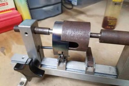 Putting the sleeve on the clock mainspring