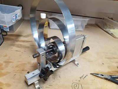 Winding the clock mainspring